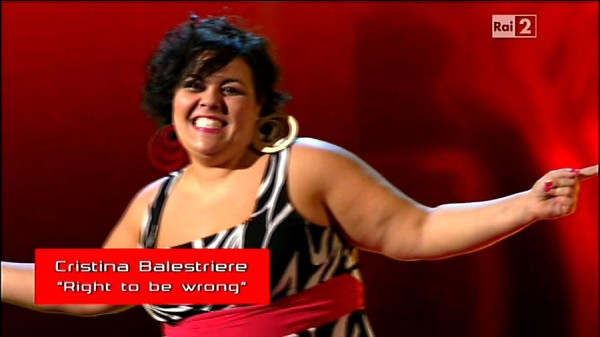 "L'ischitana Cristina Balestriere a ""The Voice of Italy"""